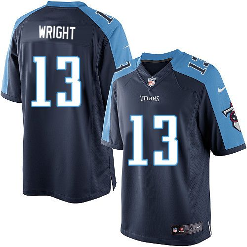Men Nike Tennessee Titans #13 Kendall Wright Limited Navy Blue Alternate NFL Jersey Sale