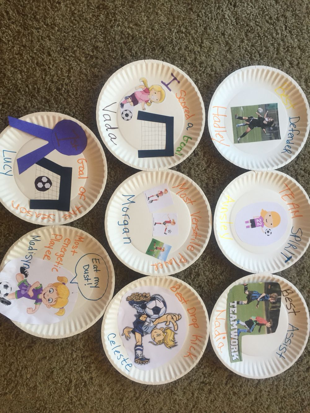 Soccer Paper Plate Awards Paper Plate Awards Paper