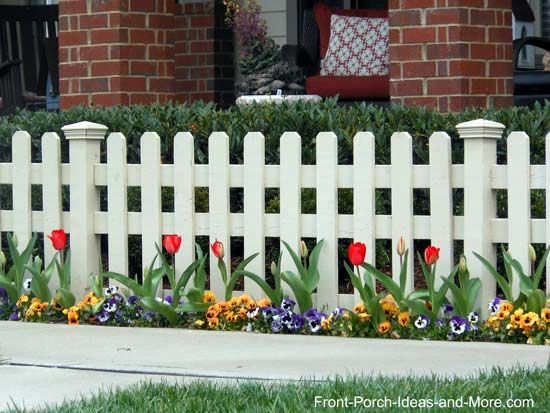 picket fence ideas for instant curb appeal landscaping along - Garden Ideas Along Fence Line