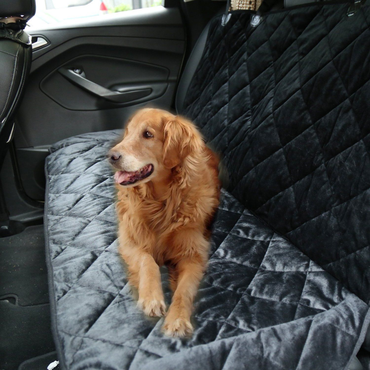 Homdox Waterproof Non-slip Padded Dog Seat Covers for Cars Trucks and SUVs Cozy Pet Seat Cover (Black Seat Cover): Amazon.co.uk: Pet Supplies