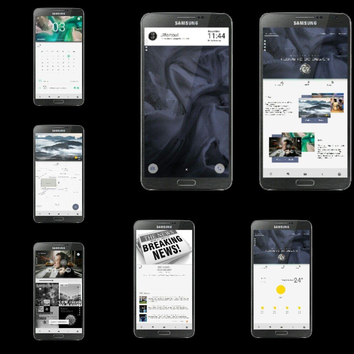 Nova Prime Samsung Galaxy Note Klwp Kuston Live Wallpapers Nova