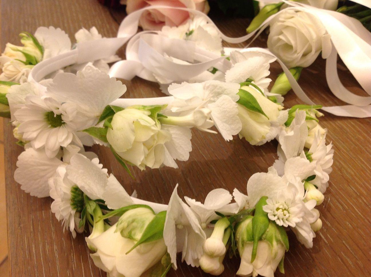 Fiori 1 Comunione.Coroncine Di Fiori Per La Prima Comunione Floral Wreath Floral