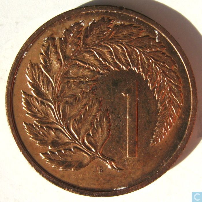 Native New Zealand Money 1 Cent Coin 1968