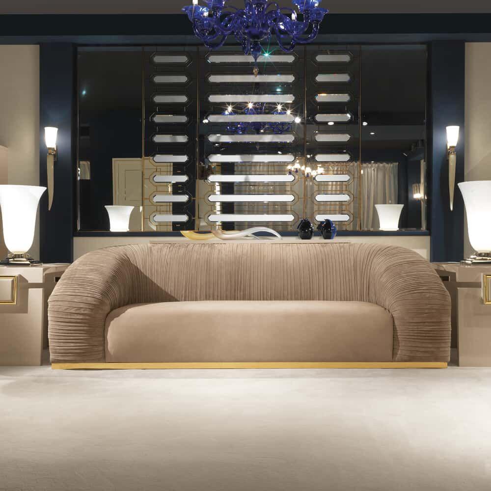 Taupe Nubuck Leather Sofa