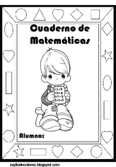 Portadas Para Cuadernos Infantiles Cuadernos De Matemáticas Dibujos Para Caratulas Portadas De Cuadernos