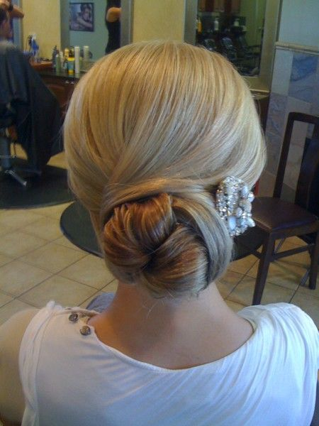 Simple wedding chignon hair-and-makeup-by-steph