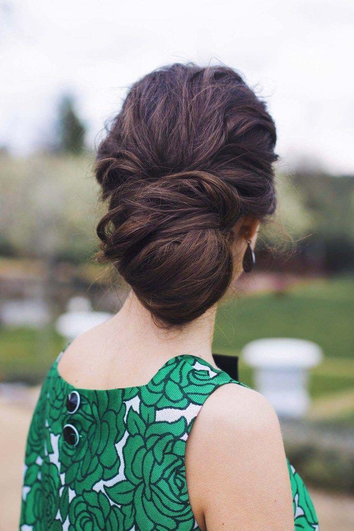 Peinado recogido mo o bajo invitada boda invitadas for Recogido mono bajo