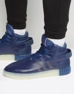 adidas Originals Tubular Invader Trainers In Blue S81793