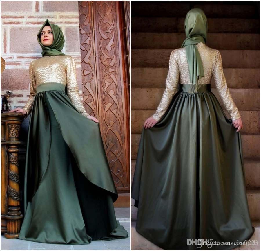 2016 New Dubai Muslim Long Evening Dresses Kaftan Arabic Turkish Evening  Robe Abayas For Woman Islamic Custom Made Prom Party Dresses Occasion Wear  Online ... 6d688ff05cf0