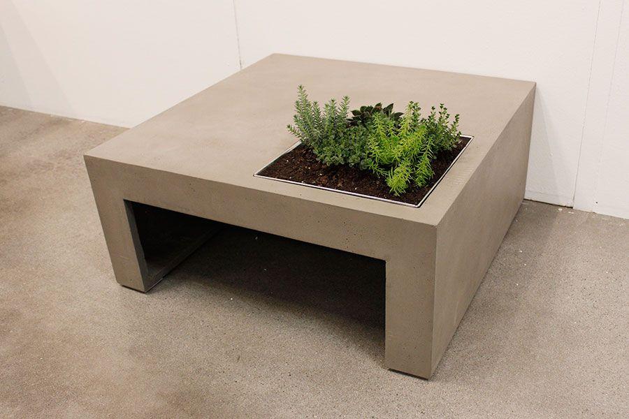 Urban Garden Table Exterieur Bois Table Basse Table Beton