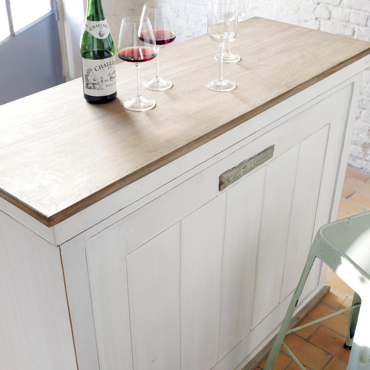 meuble de bar blanc molene