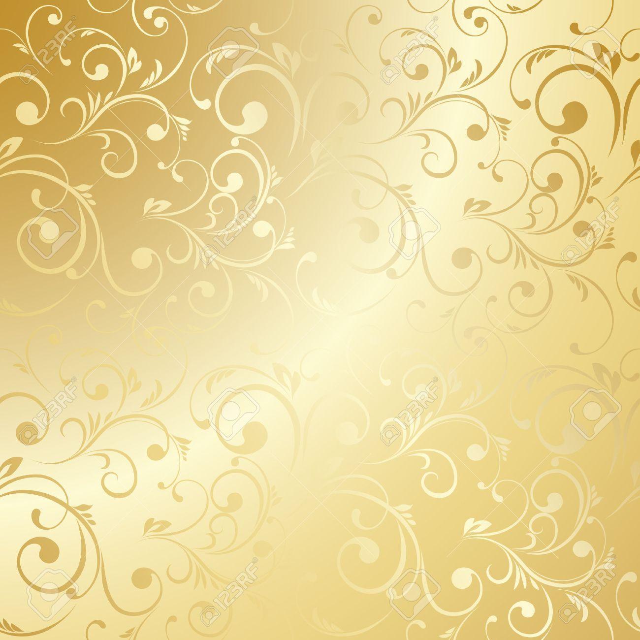 Luxury Golden Wallpaper Vintage Floral Pattern Vector Background Aff Wallpaper Vint Wallpaper Dourado Papel De Parede Wallpaper Papel De Parede Floral