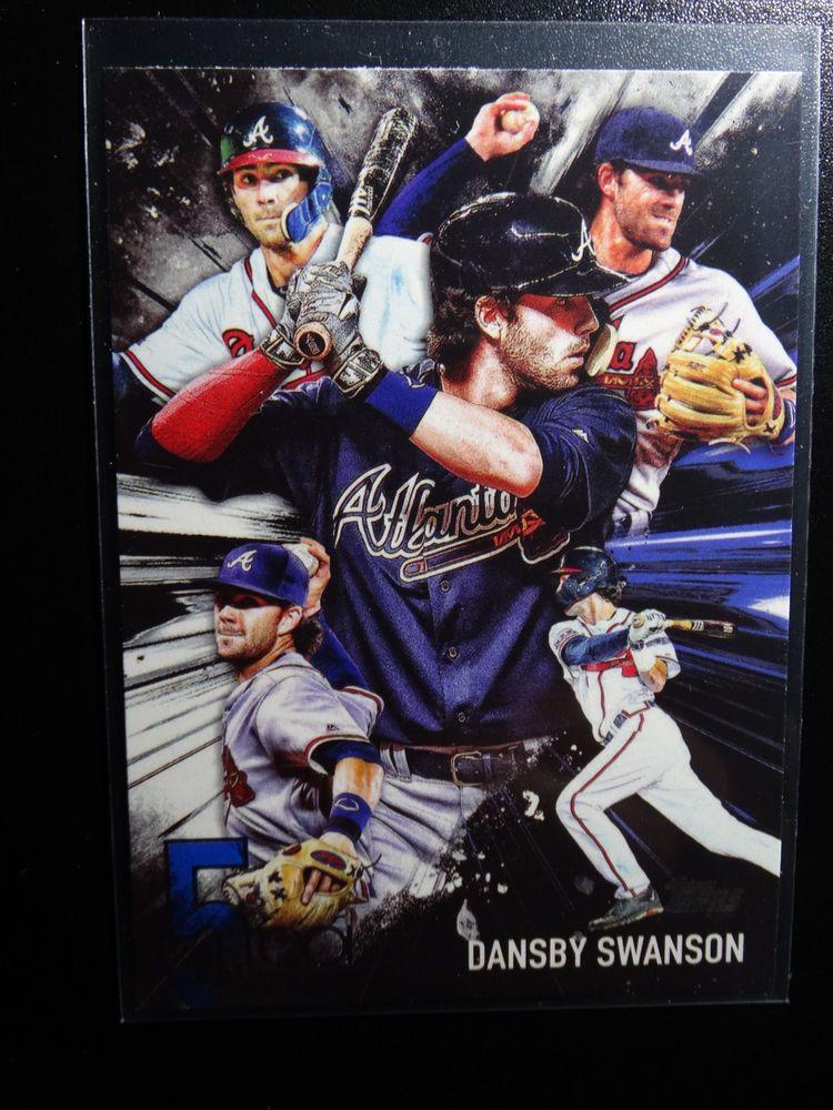 2017 Topps Series 1 5t 48 Dansby Swanson Atlanta Braves 5 Tool Baseball Card Topps Atlantabraves Baseball Cards Atlanta Braves Braves