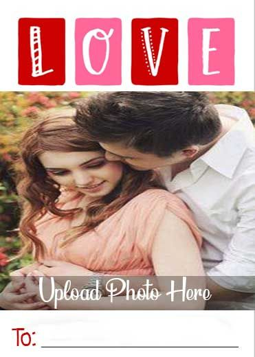 Colorful Love Name Photo Card in 2020   Name photo, Photo ...