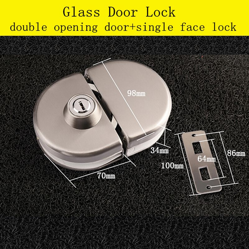 10 12mm Thickness Brass Cylinder Glass Door Lock Brass Key With Images Door Locks Glass Door Lock Glass Door