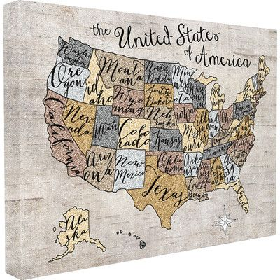 Stupell Industries The Kids Room United States Map Graphic Art On - United states map picture frame