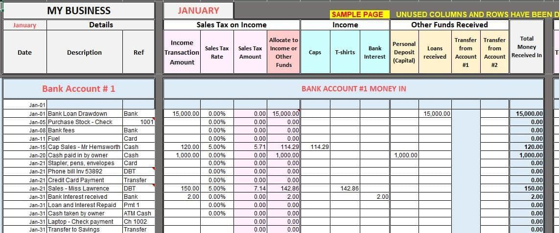 Free excel bookkeeping templates bookkeeping templates
