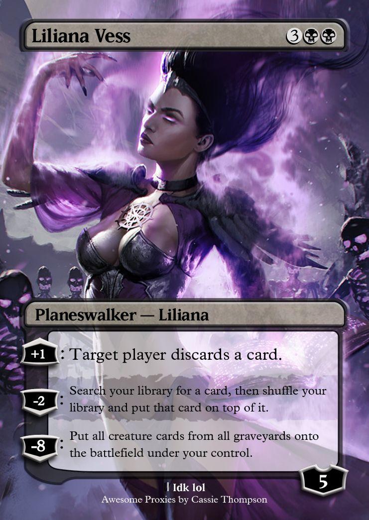 Liliana Vess Magic The Gathering Planeswalker Magic The Gathering Cards Mtg Altered Art