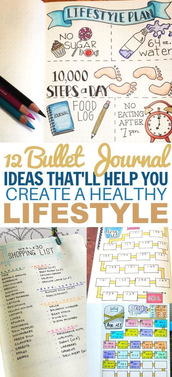 These bullet journal ideas for weight loss are PERFECT for the New Year