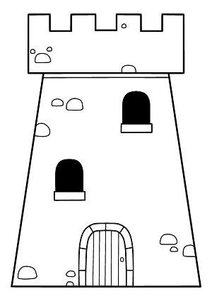 Burgturm Ausmalbild Kostenlose Druckvorlage Ritter Burgen Abenteuer Ausmalbild Ausmalen Vorlagen