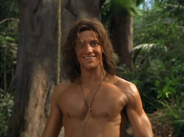 Brendan Fraser Shirtless in George of the Jungle | Hubba