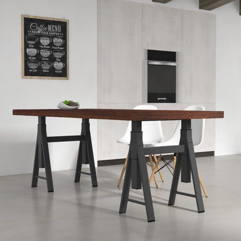 Tavoli da cucina - Tavolo da pranzo Gregg in legno massello, con ...