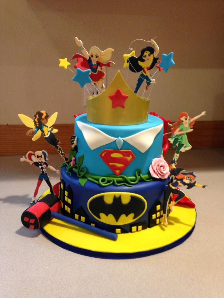 Sensational Super Hero Girls Cake Figures Are Printed On Edible Paper And Funny Birthday Cards Online Aeocydamsfinfo
