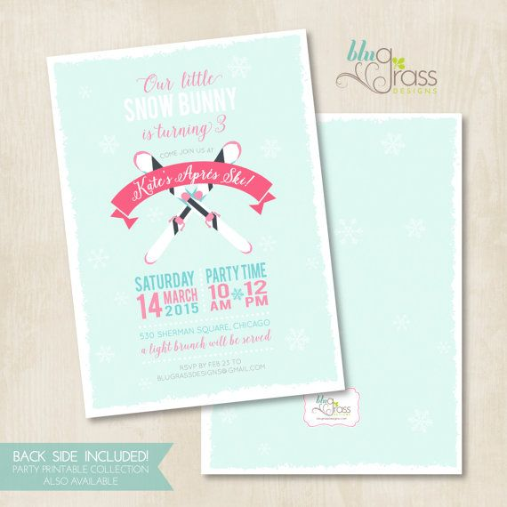 Custom Birthday Party Invitation by Mulberry Paperie Apres Ski