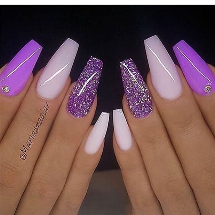 Stunning And Gorgeous Summer Coffin Acrylic Nail Designs For Your