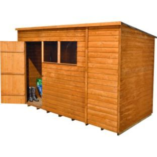 Buy Mercia Wooden 10 X 6ft Overlap Garden Shed Sheds Wooden Garden Workshop Shed Shed