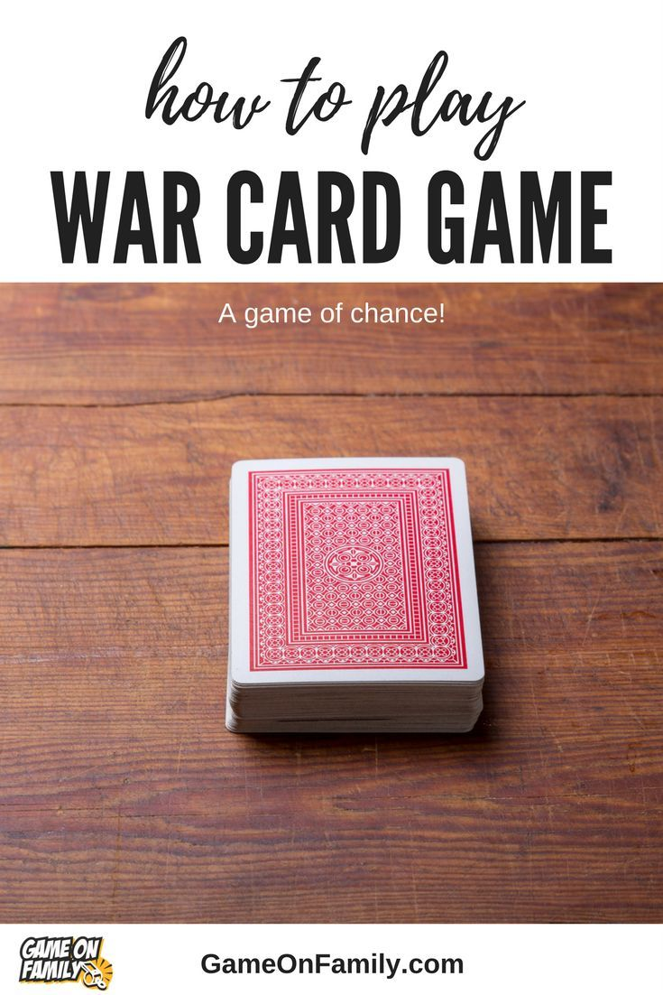 Learn how to play War via our War card game tutorial