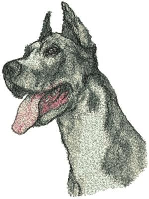 Advanced Embroidery Designs - Great Dane