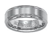 """Exquisite"" Tungsten Carbide Band - Laskers - men's rings, men's wedding rings, Tungsten Carbide, Lasker jewelers, exquisite"