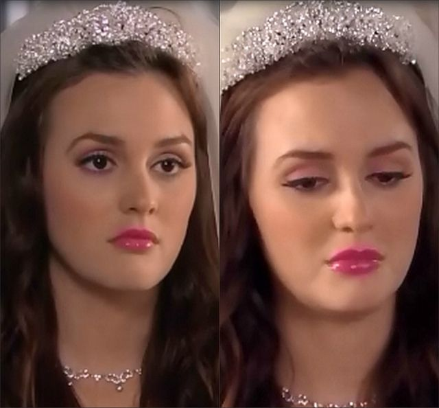 Blair Waldorf Wedding Makeup   Going For This Look But With A Redder Gloss.