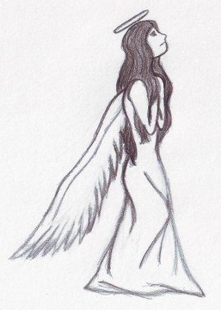 Sad Angel Drawing By Me My Drawings Pinterest Easy Drawings