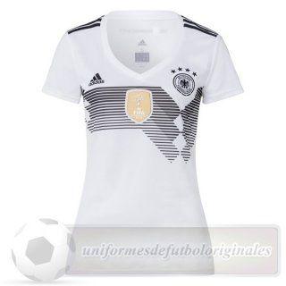 Casa Camiseta Mujer Alemania 2018 Blanco Replicas De Camisetas