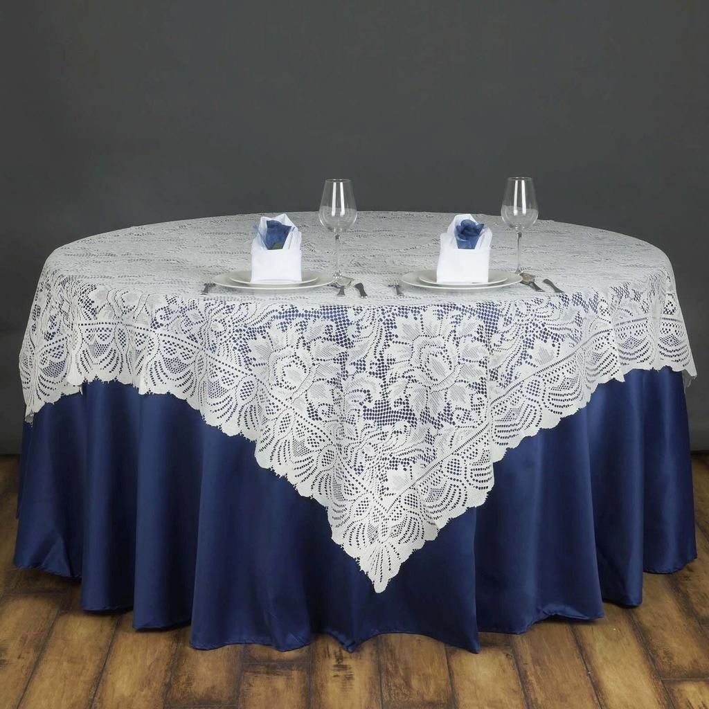 72 X 72 Ivory Jolly Good Lace Table Overlay Lace Table