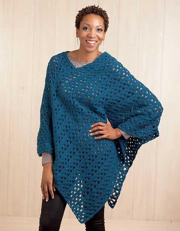 Boho Chic Crochet Ponchos | dresses | Crochet poncho ...