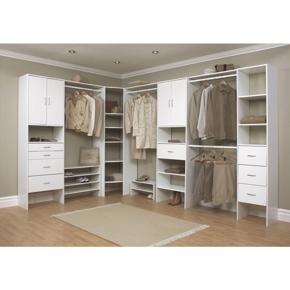Closetmaid Selectives 16 In White Custom Closet Organizer Home Depot Closet Home Depot Closet Organizer Closet Organization Designs