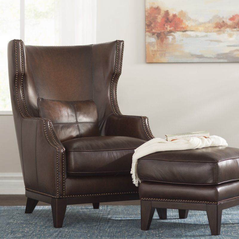 Wingback Chair With Ottoman Home Interior Design Ideas In 2020 Chair And Ottoman Wingback Chair Living Room Seating