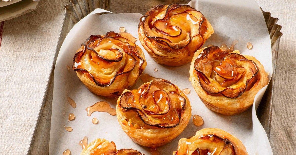 Apfelrosen-Muffins schnell mit Blätterteig | meine Familie & ich – Europas größtes Foodmagazin