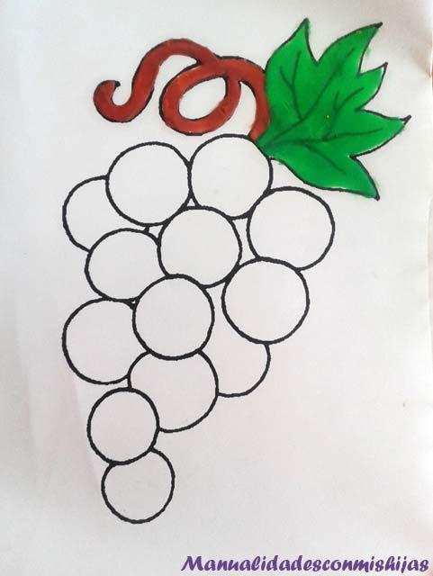 Pintando Racimo De Uvas Y Otras Frutas Con Plastilina Racimos De