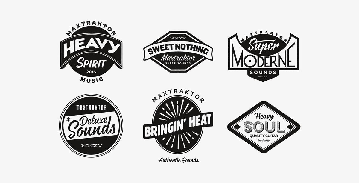 Maxtraktor band logo stickers on behance