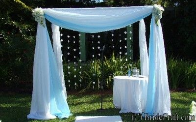 Wedding Gazebo Ideas Could Have Seashells Or Silk Rose Petals Hanging At The Back