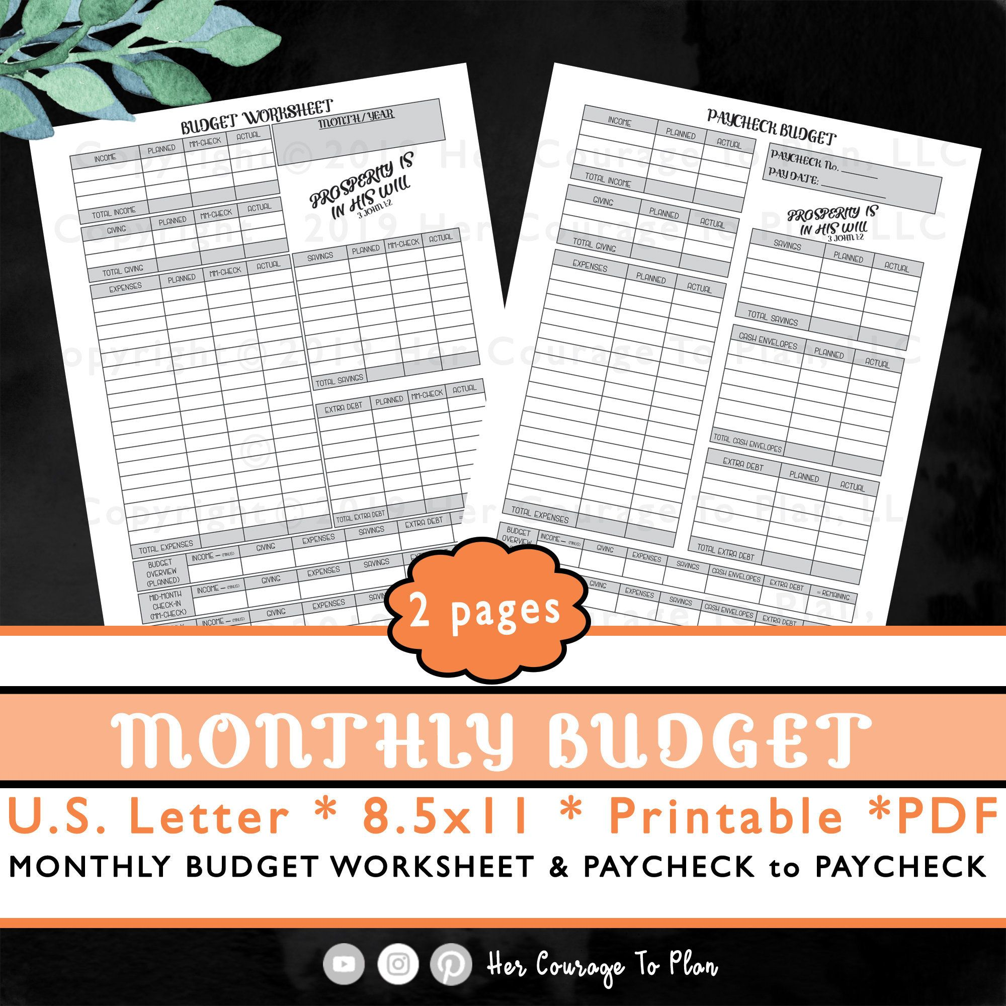 Budget Set Monthly Budget Amp Paycheck Basic Scripture