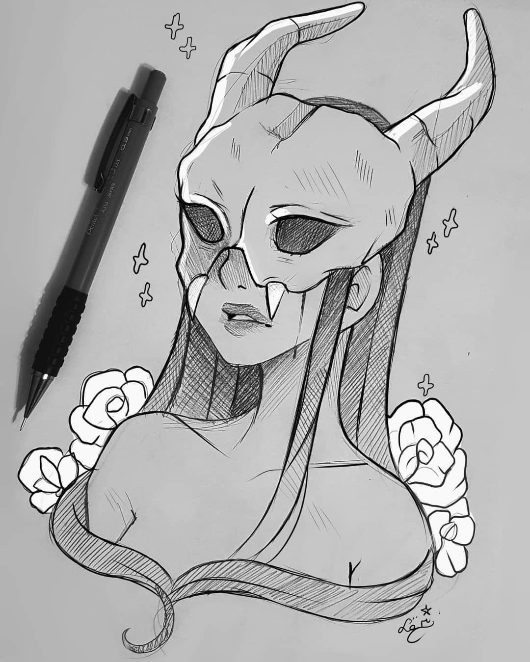 Girl Devil Drawing : devil, drawing, Desenhos