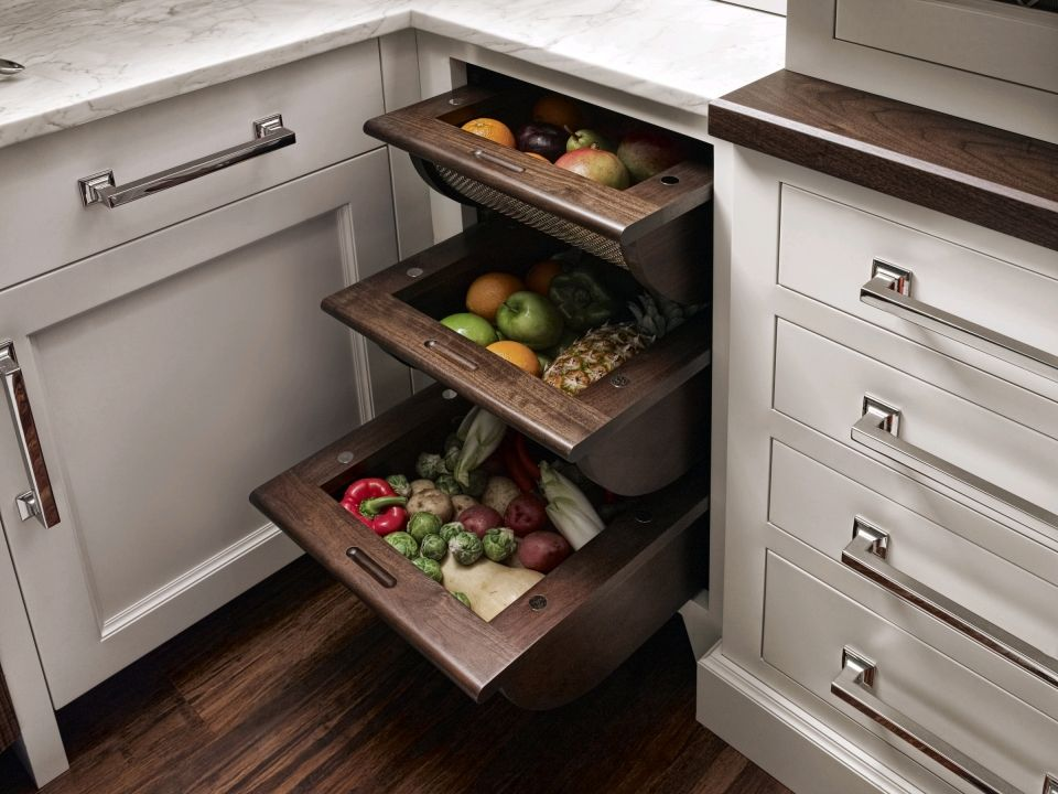 New America Kitchen Love The Cabinets And Hardware Need To Also Think About How We Can Integrate Veggie Fruit Storage Into