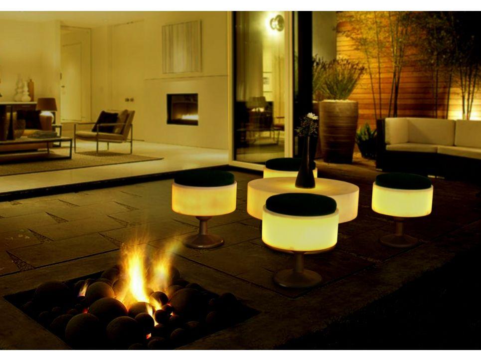 Coconut Hocker mit Beleuchtung