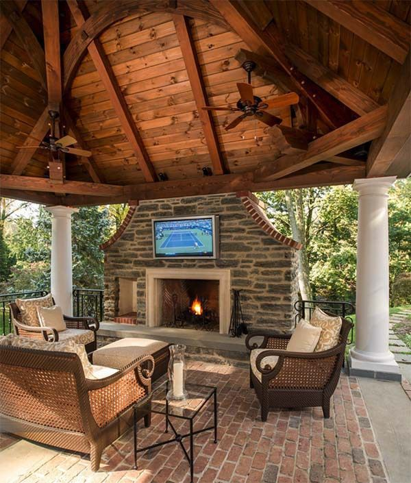 One Kindesign: 53 Most Amazing Outdoor Fireplace Designs Ever