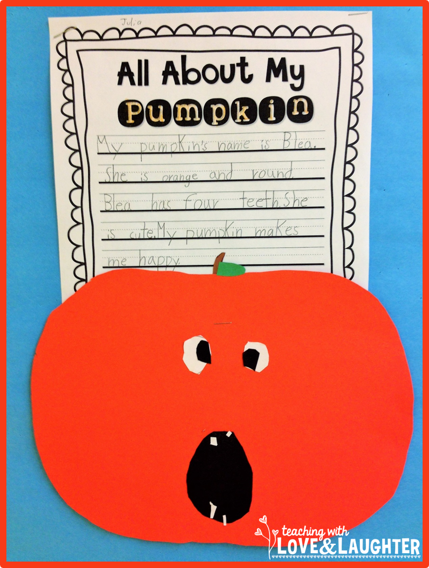 Pumpkin Writing Bulletin Board (Teaching With Love and Laughter ...